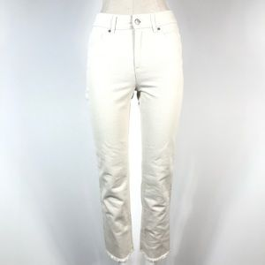 joe fresh high rise crop raw hem 26 White NWT